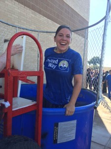 The Dunking Booth at Virginia College was a splash!