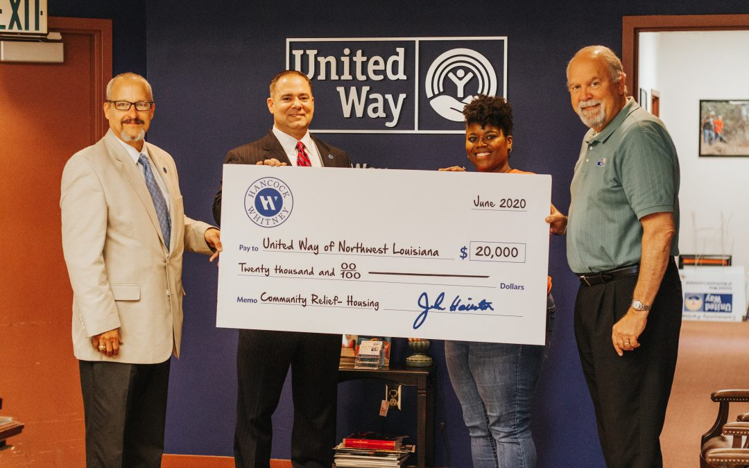 UNITED WAY RECEIVES $20,000 GRANT FROM HANCOCK WHITNEY