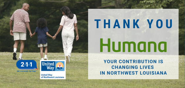 UNITED WAY RECEIVES $50,000 GRANT FROM HUMANA