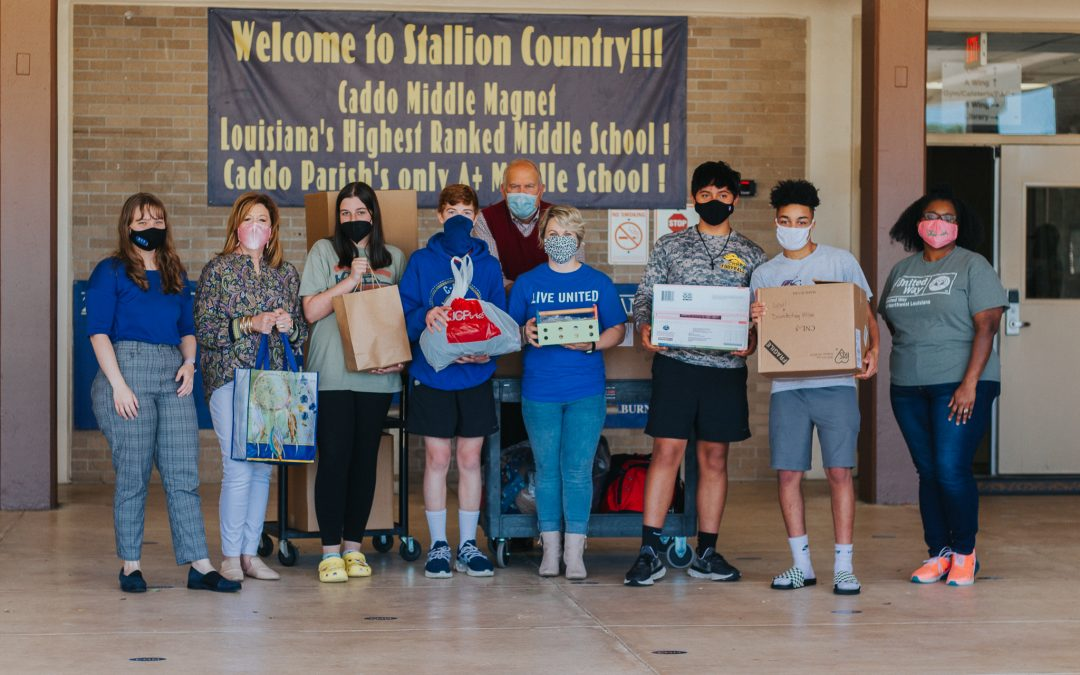 UNITED WAY AND CADDO PARISH SCHOOLS COLLECT OVER 8,000 ESSENTIAL ITEMS FOR LOCAL NONPROFITS