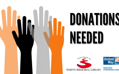 SHREVE MEMORIAL LIBRARY PARTNERS WITH UNITED WAY TO COLLECT DONATIONS FOR HURRICANE IDA EVACUEES